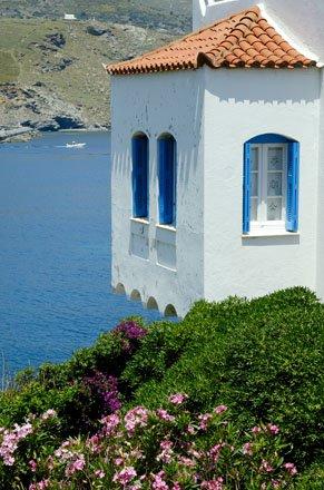 chora en de archontika op andros, griekenland