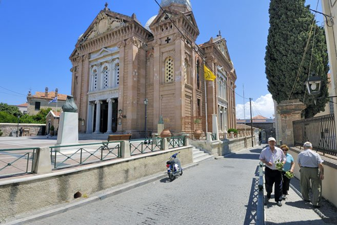 kerken en kloosters op lesbos, griekenland