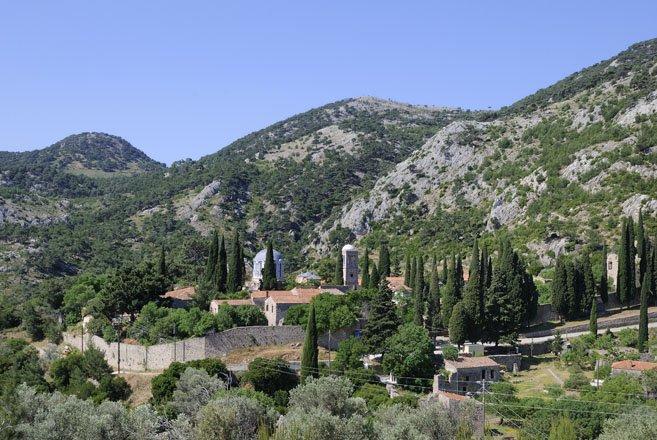 kloosters op chios, griekenland