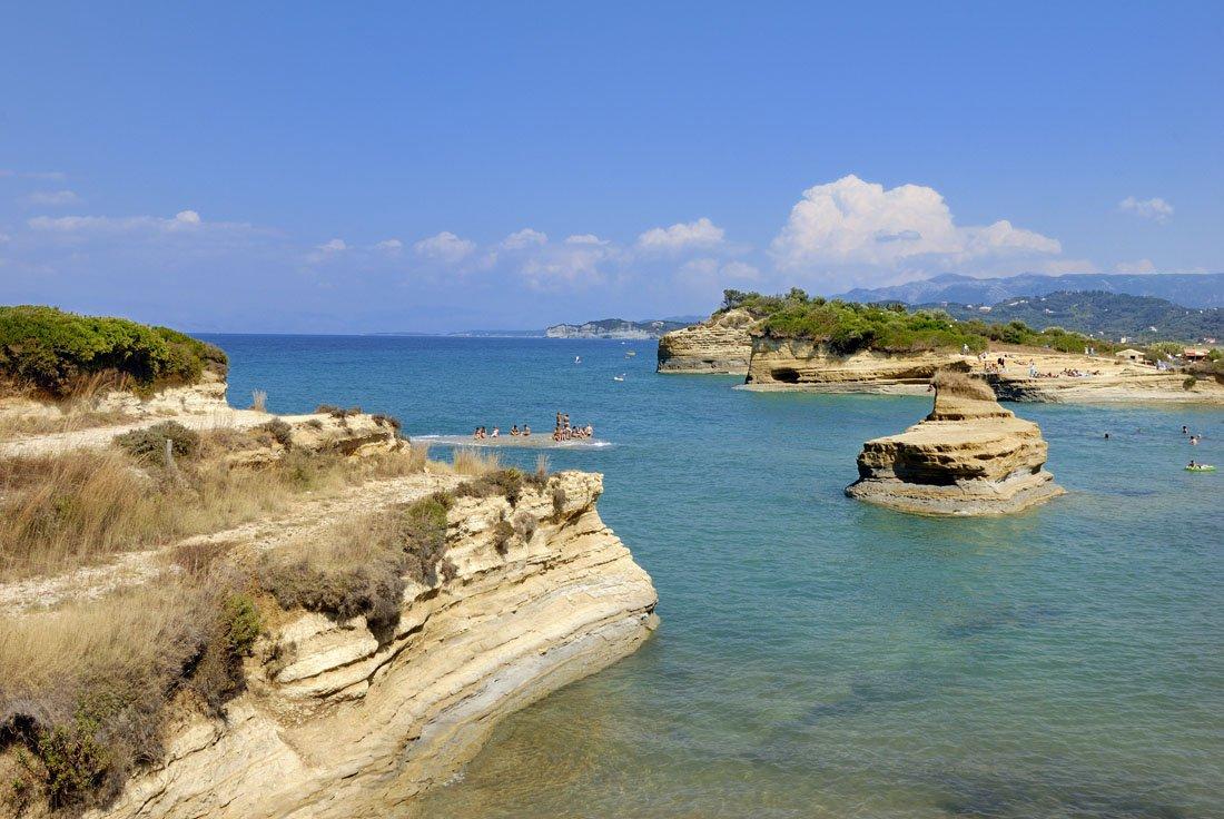 canal d'amour op corfu, griekenland