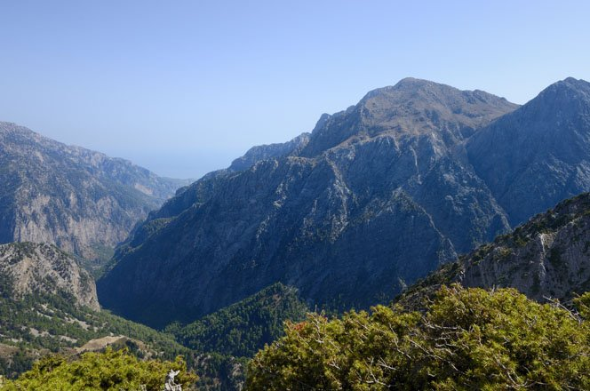 samaria kloof op west-kreta, griekenland