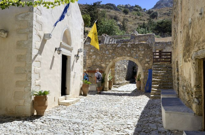 kloosters rondom rethymnon op kreta