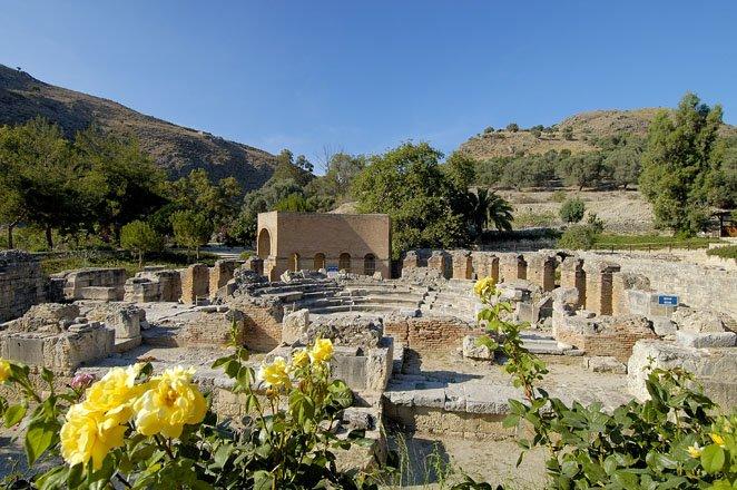 gortys op zuid-kreta, griekenland