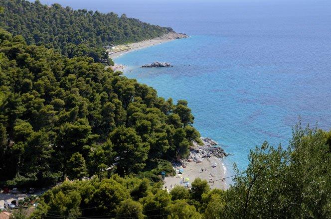 de natuur van skopelos, griekenland