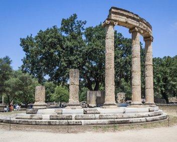 Olympia op de Peloponnesos