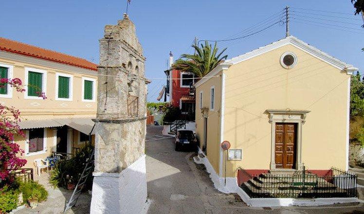 het dorp viros op corfu