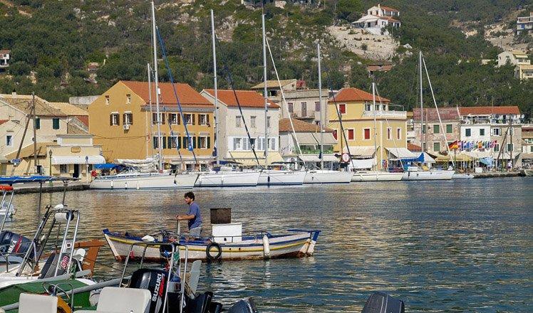 het dorp gaios op paxos