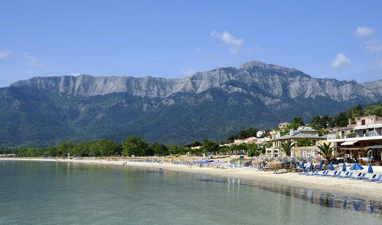 het dorp golden beach op thassos