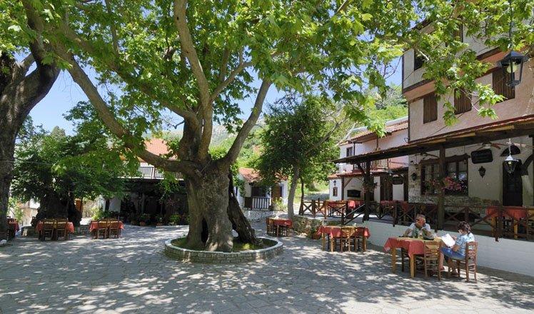 het dorp kazaviti op thassos