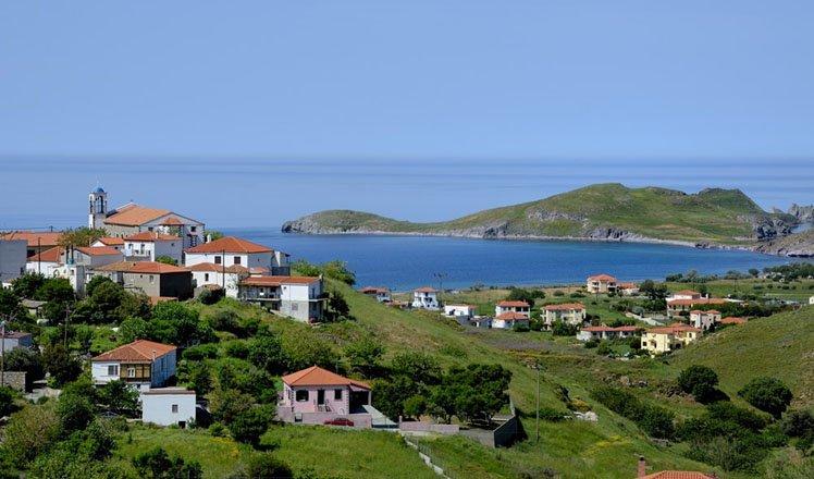 het dorp plati op limnos