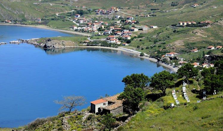 het dorp agios ioannis op limnos