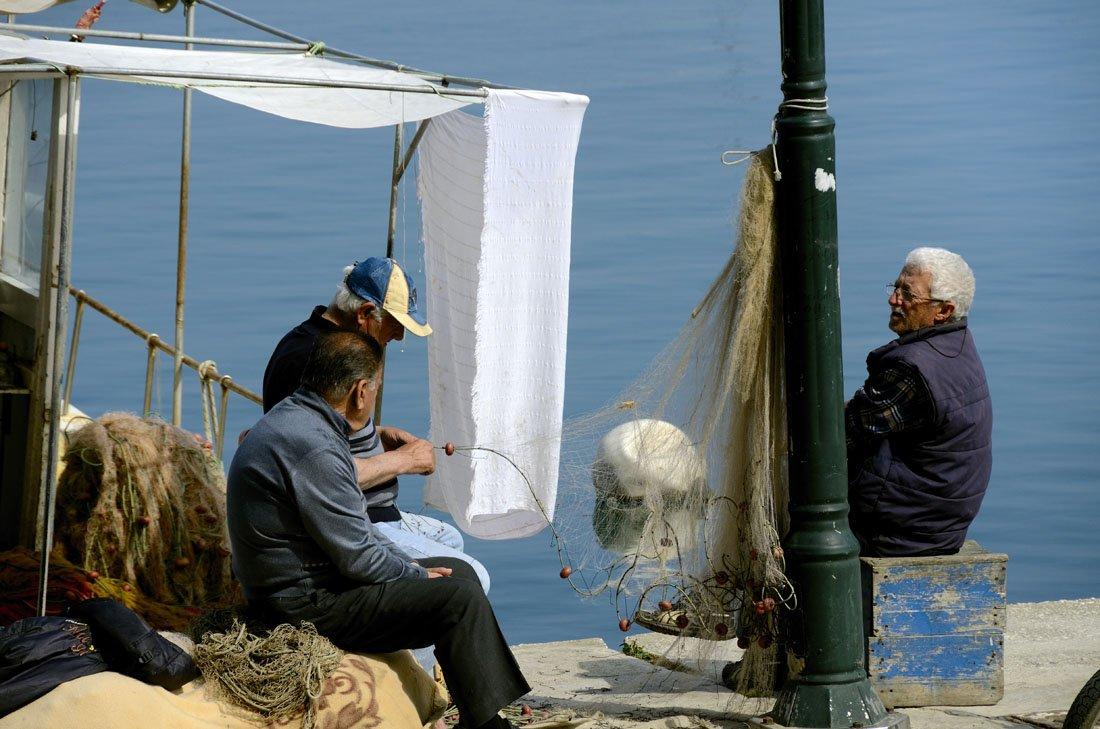 De plaats Limenas op Thassos in Griekenland_1