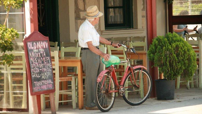 fietsen op lefkas