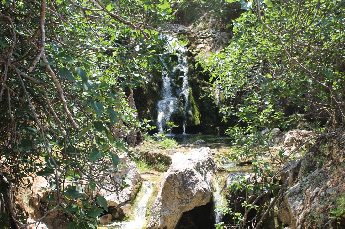 Milopotamos watervallen