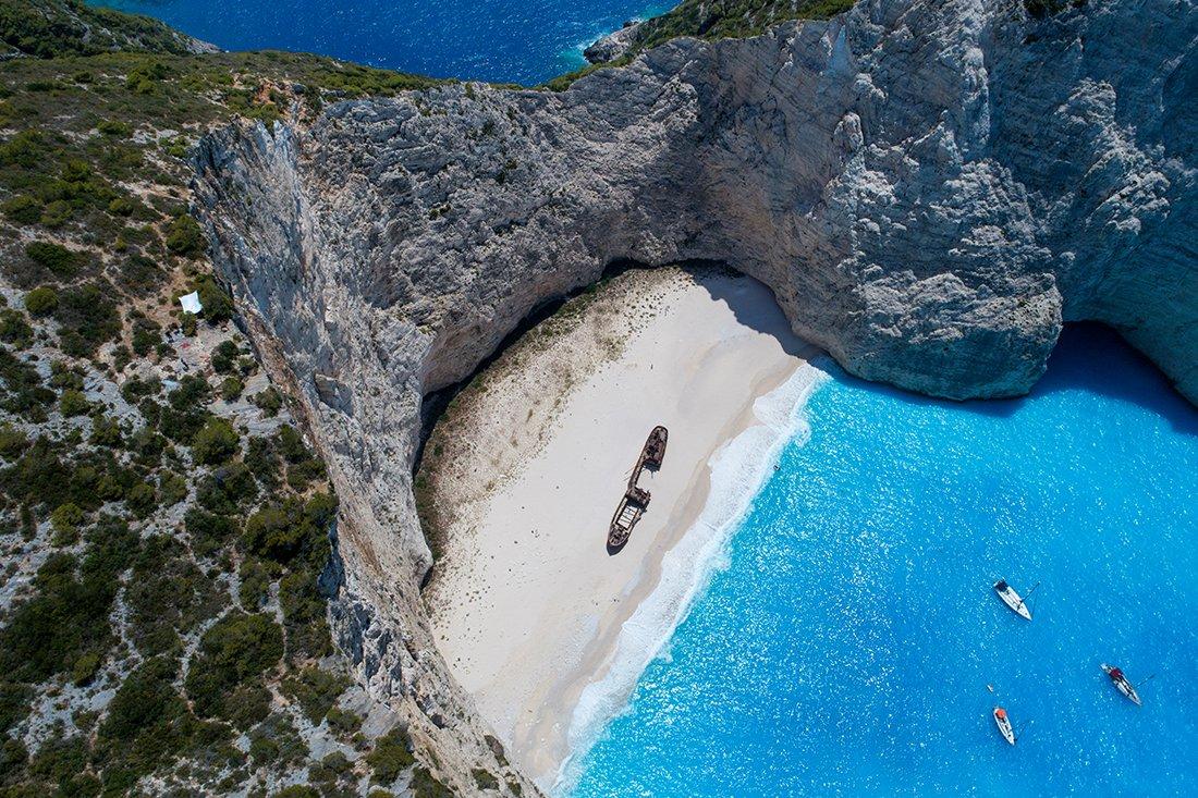 Shipwreck uitzicht in Zakynthos