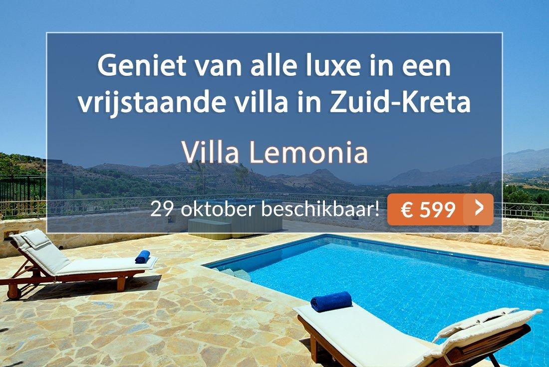 Villa Lemonia in Zuid-Kreta